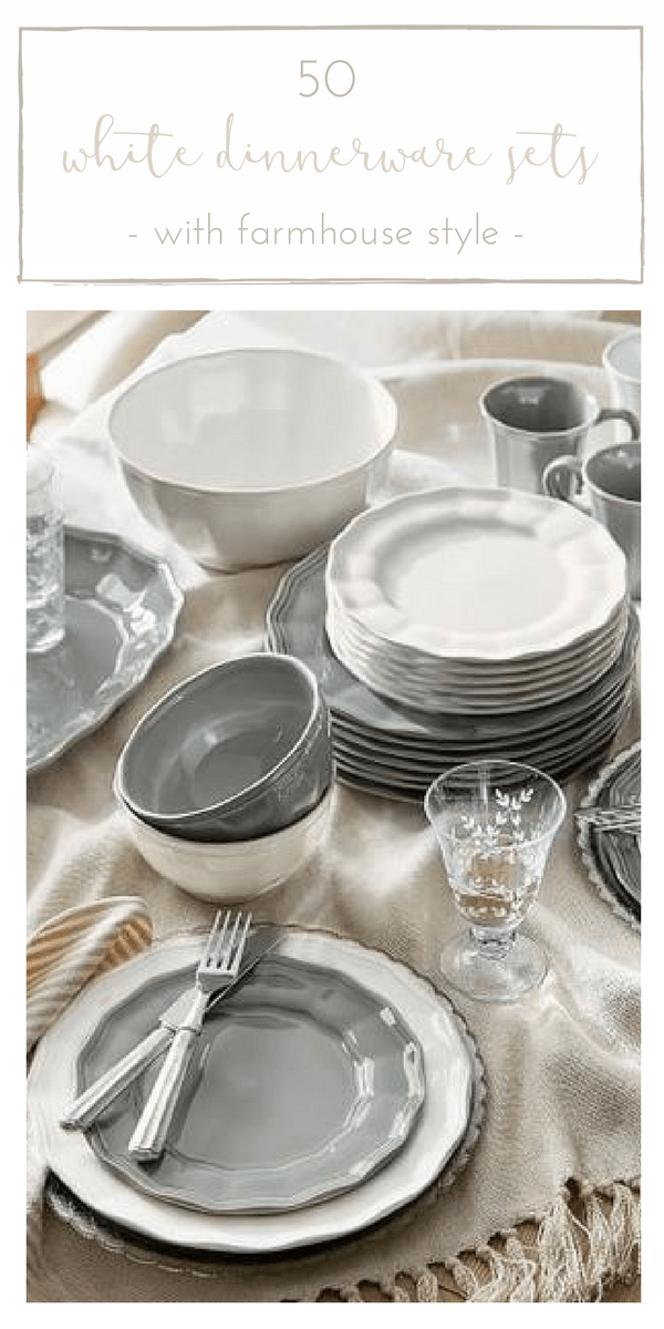 Is there anything more timeless than a lovely white dinnerware set? Donu0027t miss & 50 Gorgeous White Dinnerware Sets with Farmhouse Style - making it ...