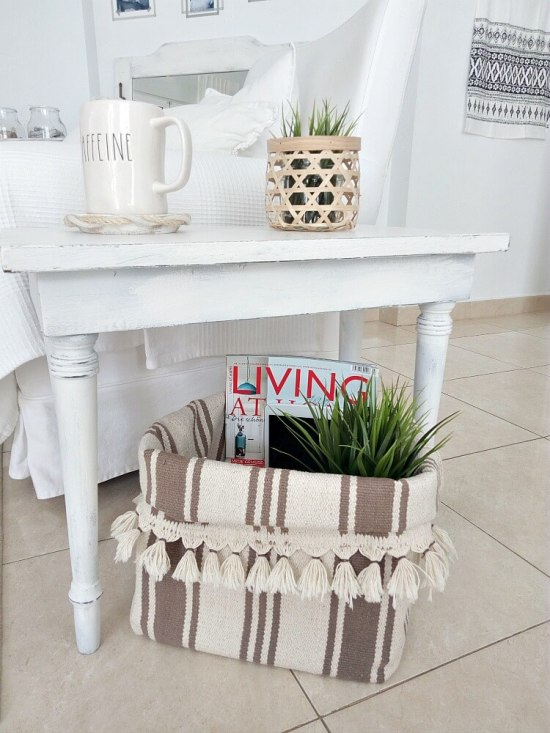 DIY Basket from an IKEA rug