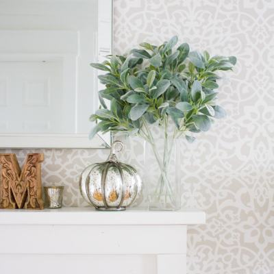 How to Style a Simple + Neutral Fall Mantel