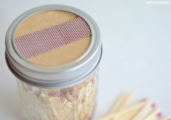 DIY Match Storage Mason Jar