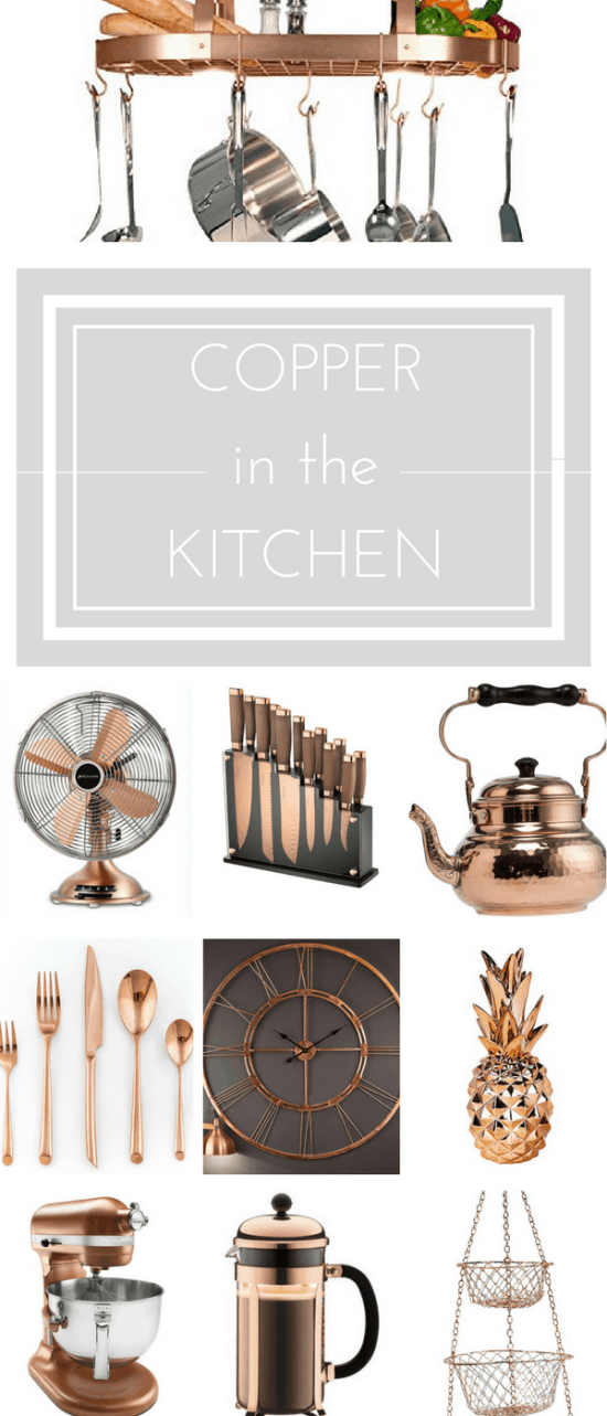 The best copper kitchen decor to warm up your home... | www.makingitinthemountains.com