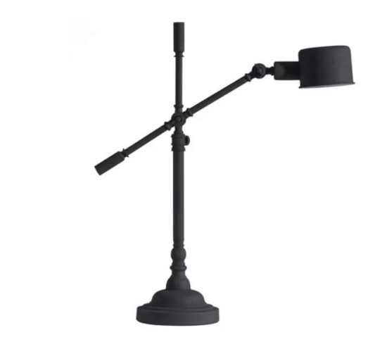 Rustic Black Desk Lamp