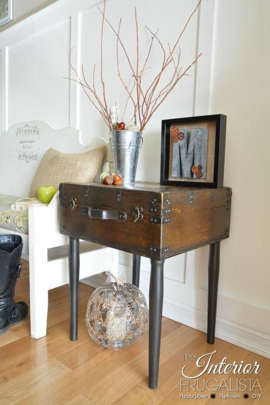 DIY Vintage Trunk Table
