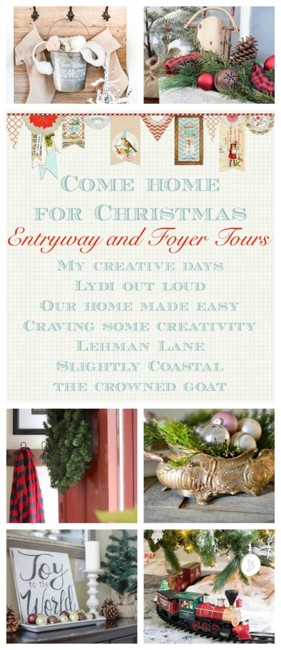Christmas Decor for the Entryway + Porch