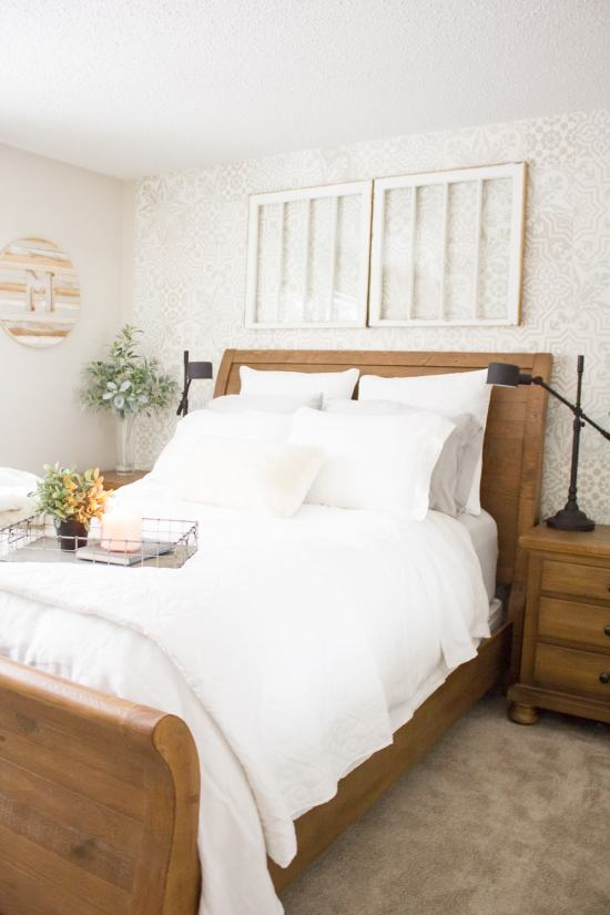 One room challenge week seven farmhouse style guest for Farmhouse guest bedroom