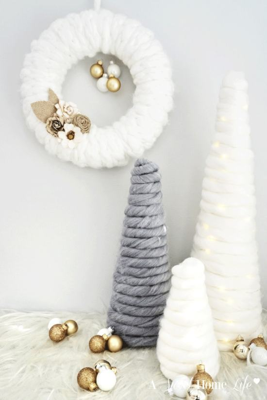 DIY Finger Knit Wreath
