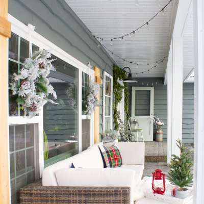 Home for the Holidays: Farmhouse Style Christmas Porch