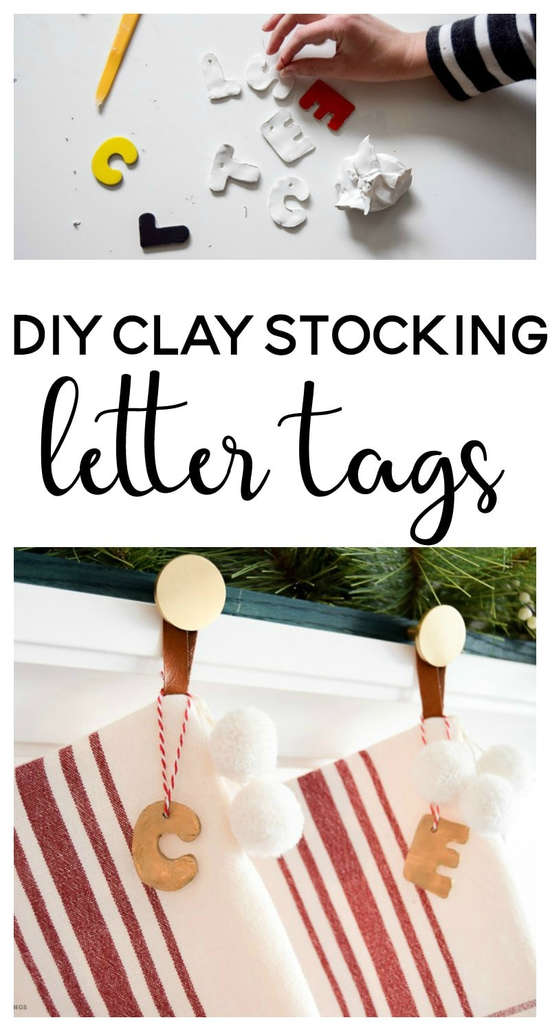 DIY Clay Stocking Letter Tags