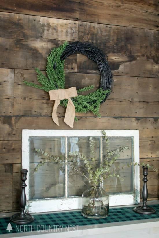 DIY simple winter wreath