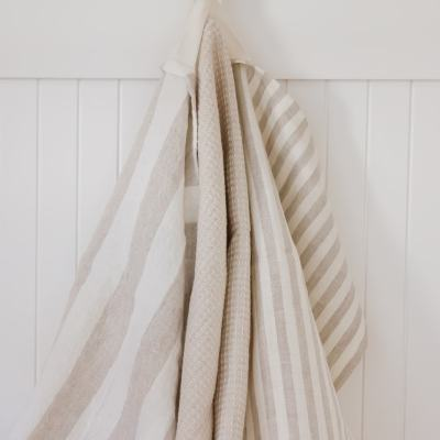 Farmhouse Style DIY Linen Dish Towel