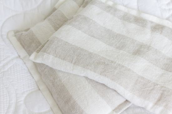 linen striped fabric, rice bag