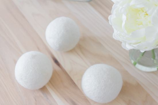 wool dryer balls, butcher block counters