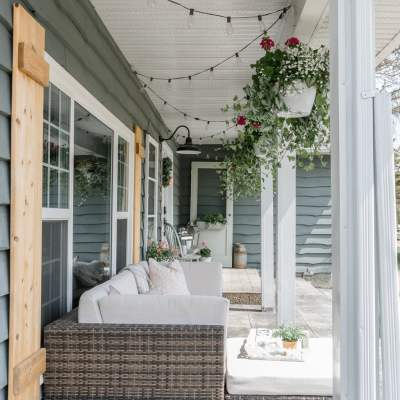 Welcome to our Farmhouse Summer Porch