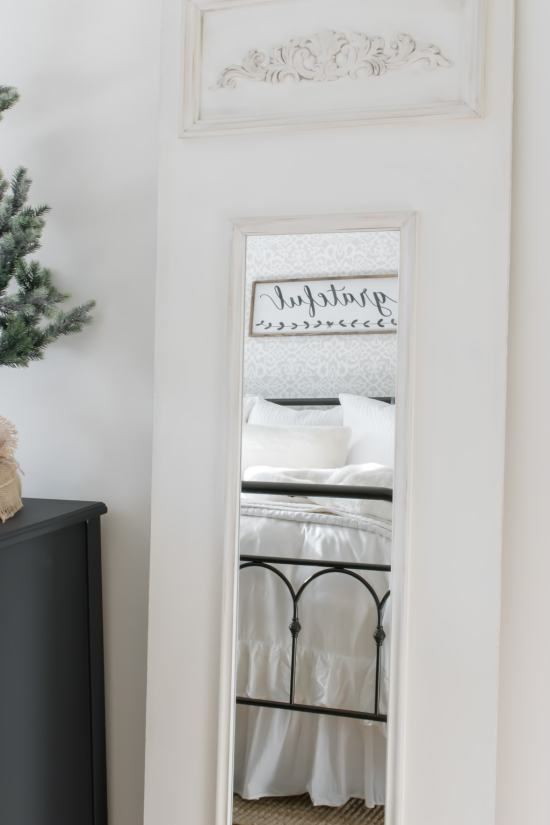 Neutral Farmhouse Christmas Bedroom
