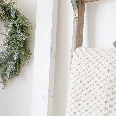 Easiest Ever DIY Knit Blanket