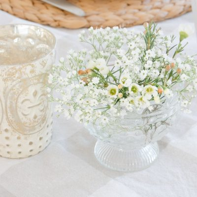 Simple Farmhouse Spring Table Setting