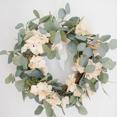 How to Make a Simple DIY Eucalyptus Spring Wreath