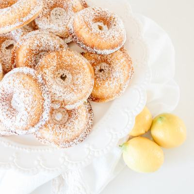 Quick + Simple Lemon Cake Donuts