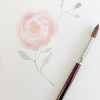 Learning to Watercolor Paint at Home