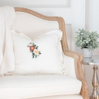 How to Make an Embroidered Flower Pillow Cover for Beginners