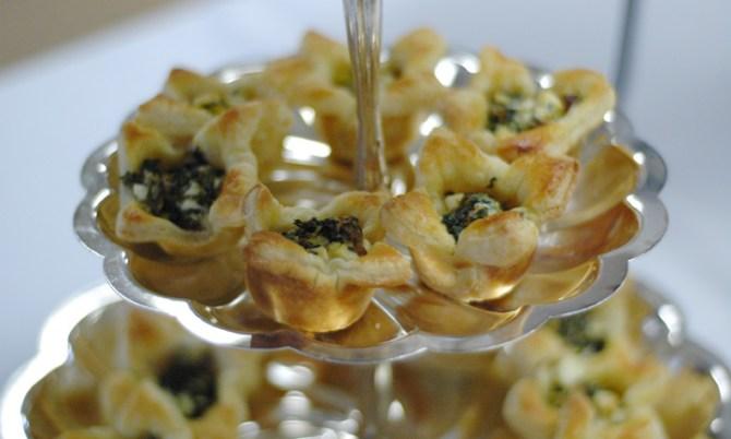 Spinach, Feta, and Artichoke Puffs