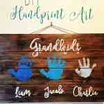 Grandparent Gift Idea: DIY Handprint Art