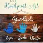 Grandparent Gift Idea: DIY Handprint Art