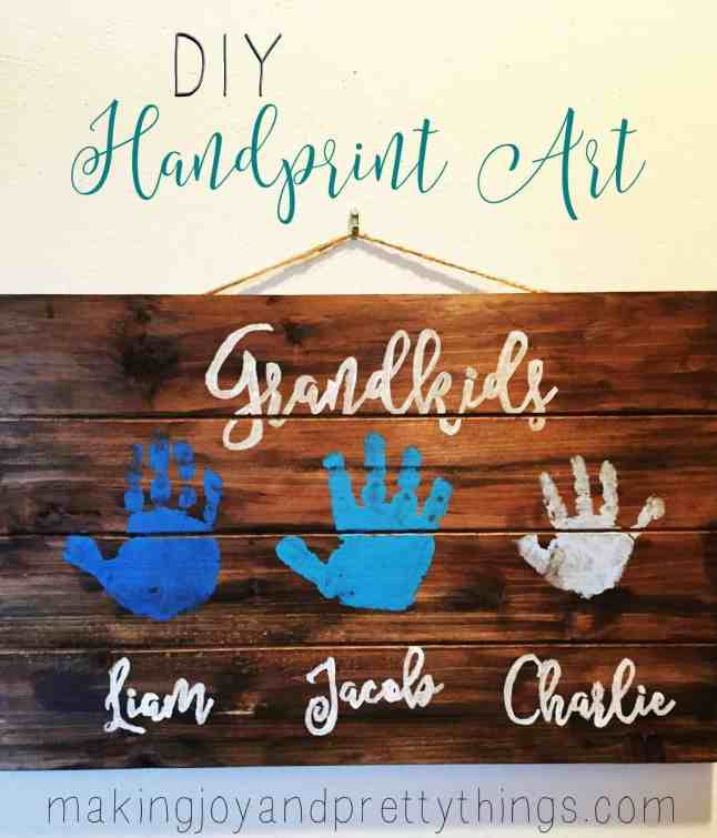 quick and easy diy handprint art perfect for grandparents and mothers
