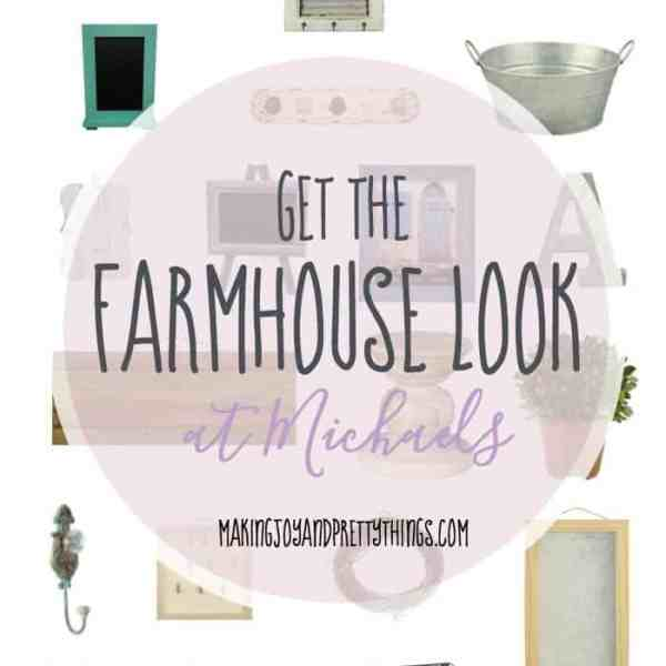 DIY your Fixer Upper or Farmhouse look on a budget from Michaels!