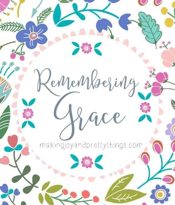 Remembering Grace: Reflection for Mamas