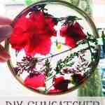 Kid Craft: DIY Suncatcher using Real Flowers
