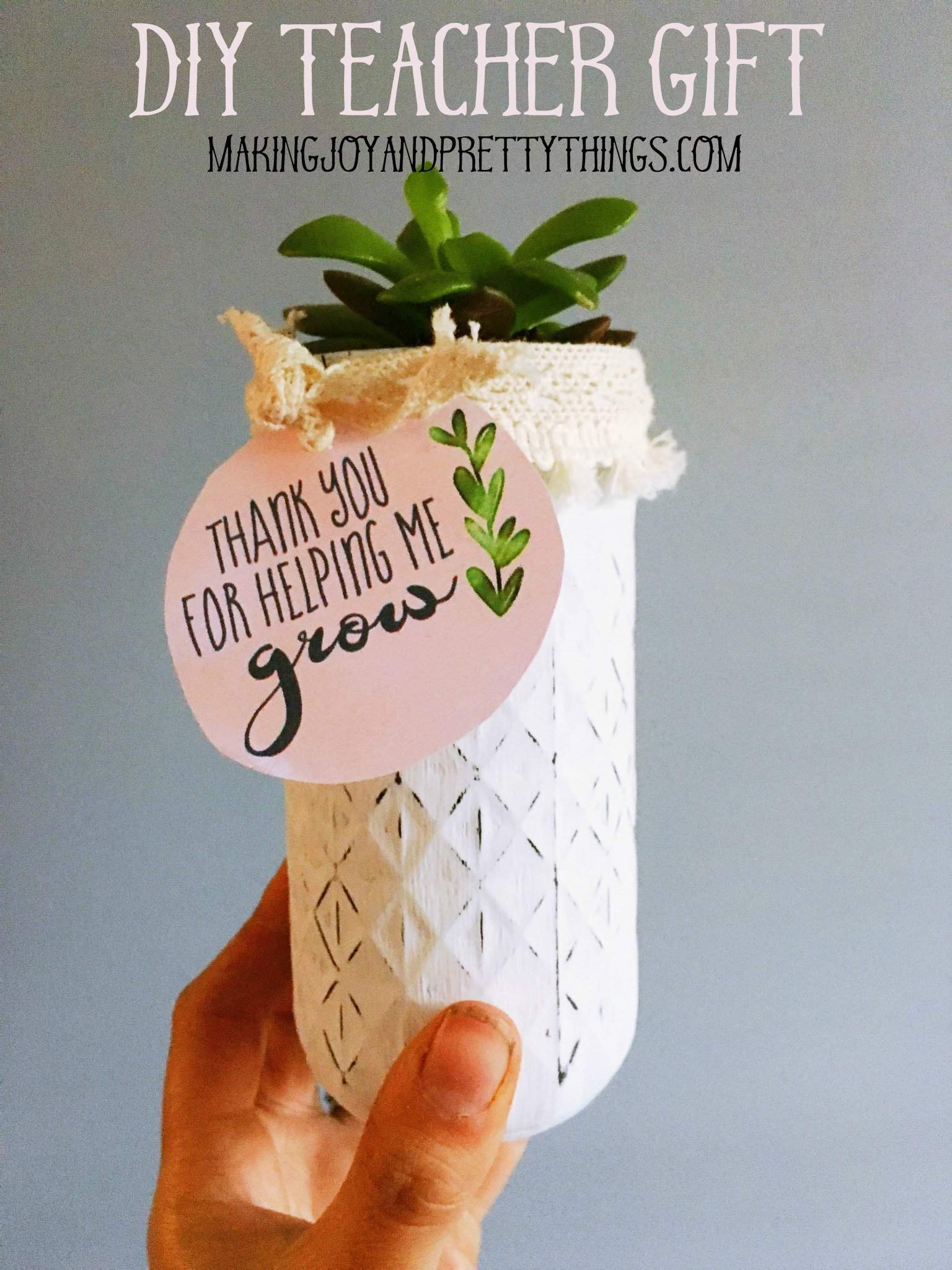 photo regarding Thank You for Helping Me Grow Free Printable named Do it yourself Trainer Appreciation Reward + Totally free Printable! -