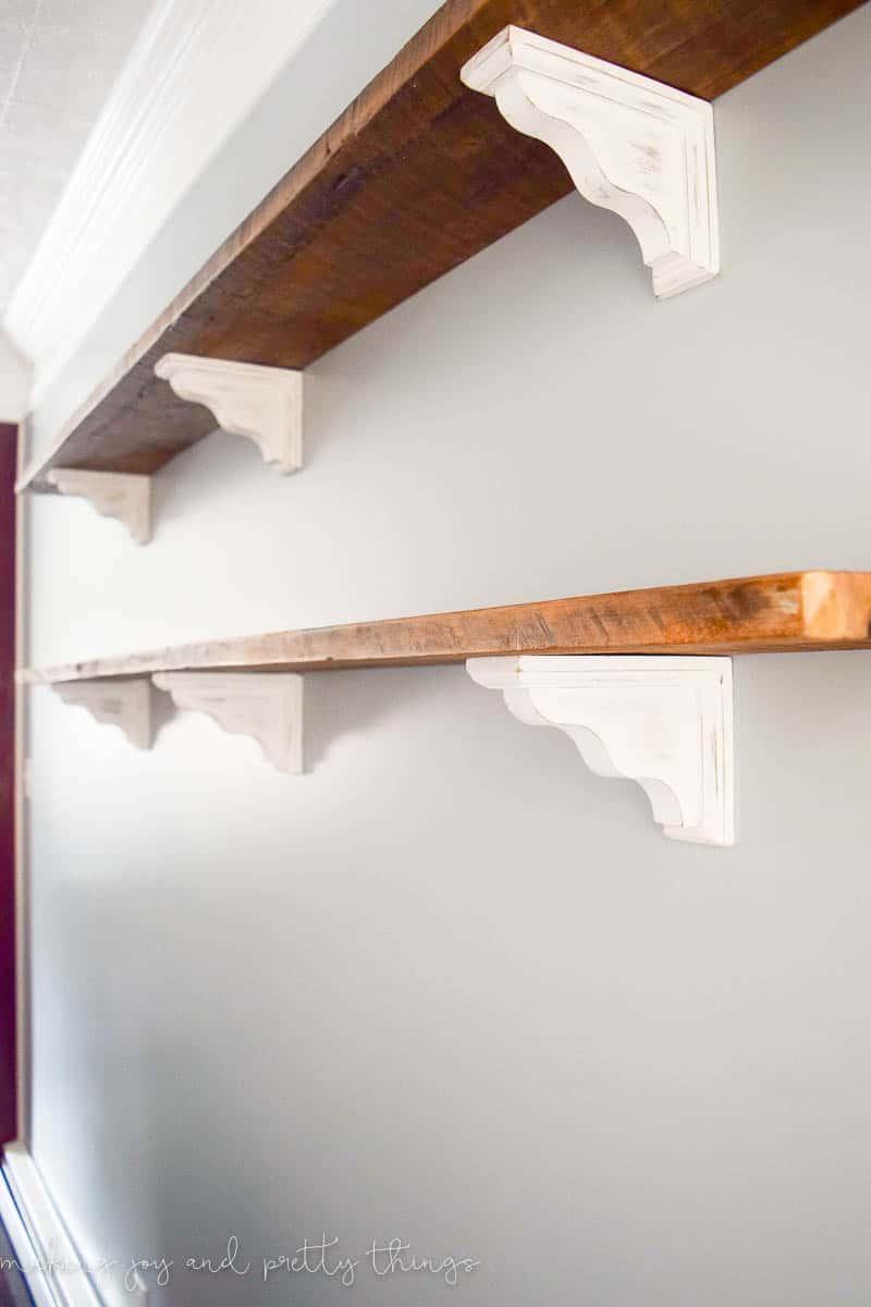 Diy farmhouse shelves - Dining room shelves ...