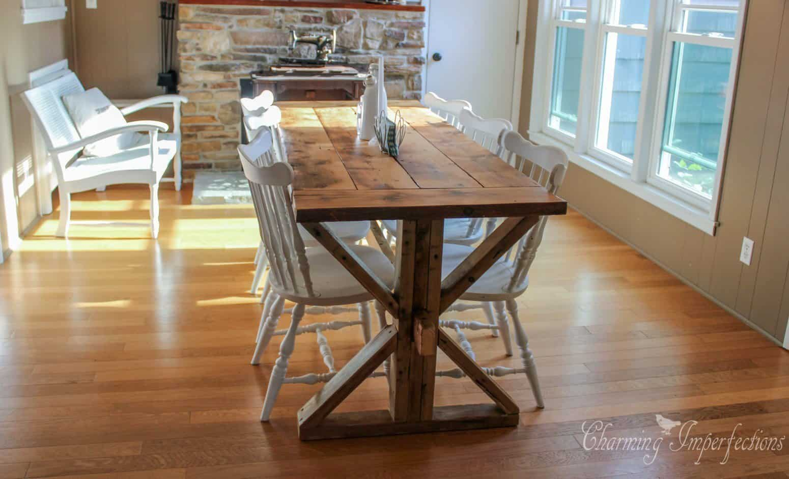 Captivating 7 DIY Farmhouse Dining Room Tables. All Have Free Downloadable Plans. Build  Your Own
