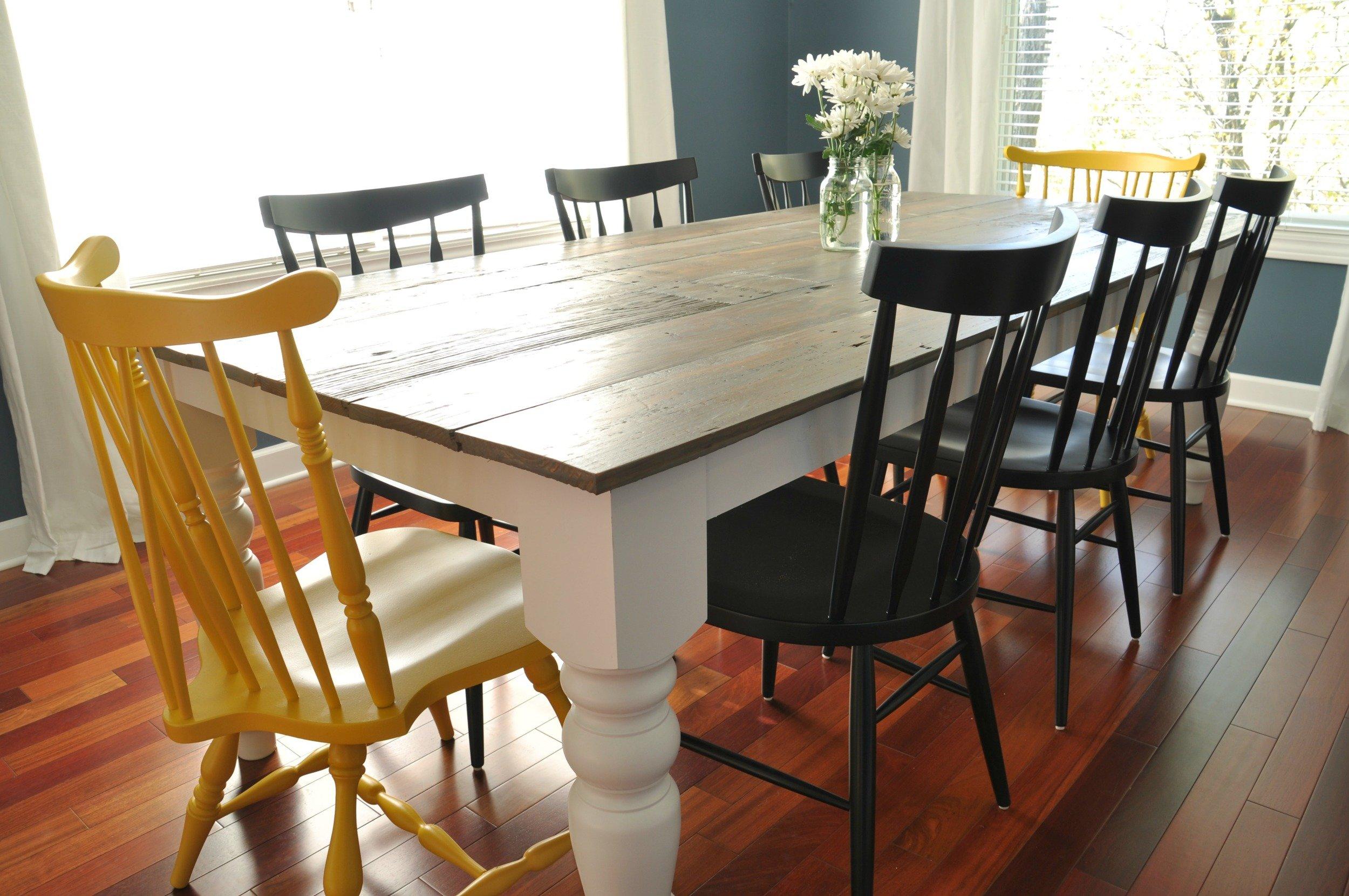 7 DIY Farmhouse Dining Room Tables All