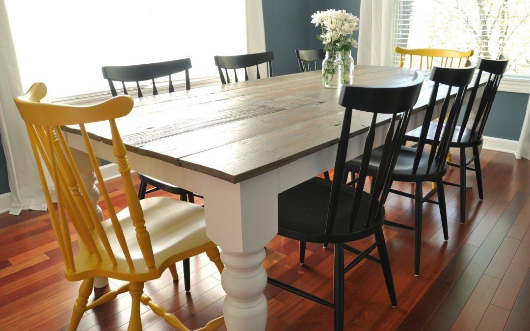 Dining Room Chair Design Plans 7 diy farmhouse tables with free plans! -