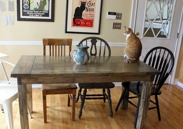 7 DIY Farmhouse Tables with Free Plans! - Making Joy and ...