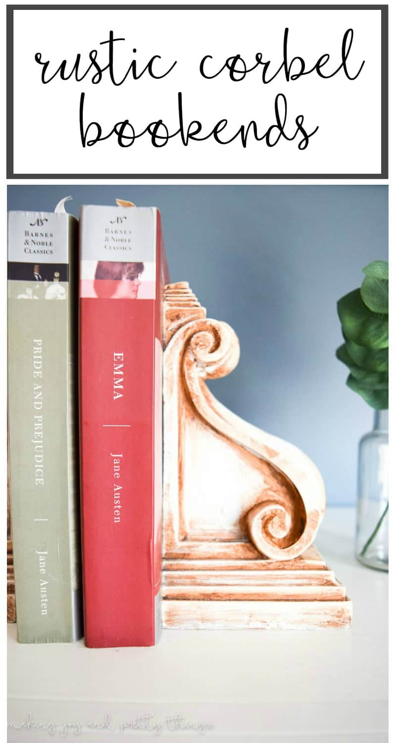 Rustic Corbel Bookends - 10th Day of Craftmas