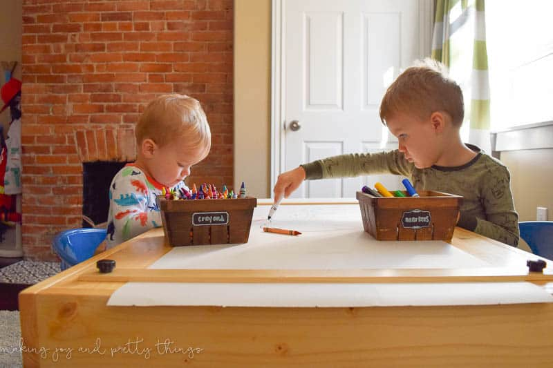 diy kid's craft table | diy table | shared boys bedroom | budget-friendly | diy ideas | diy projects