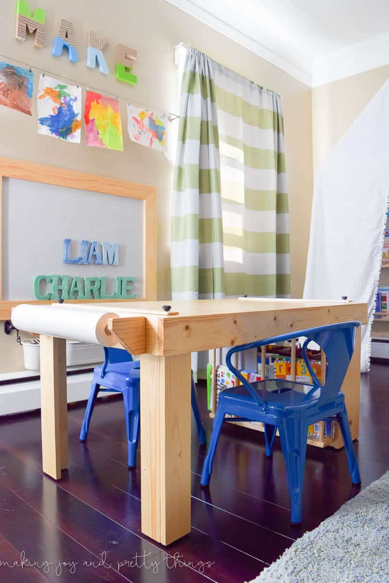 Diy kid 39 s craft table for Boys arts and crafts