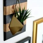 DIY Farmhouse Glam Wall Planter