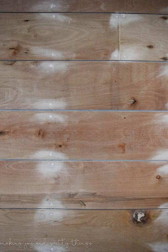 shiplap wall   diy shiplap wall   how to plank a wall   planked wall   diy plank wall