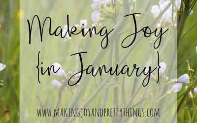 Making Joy in January
