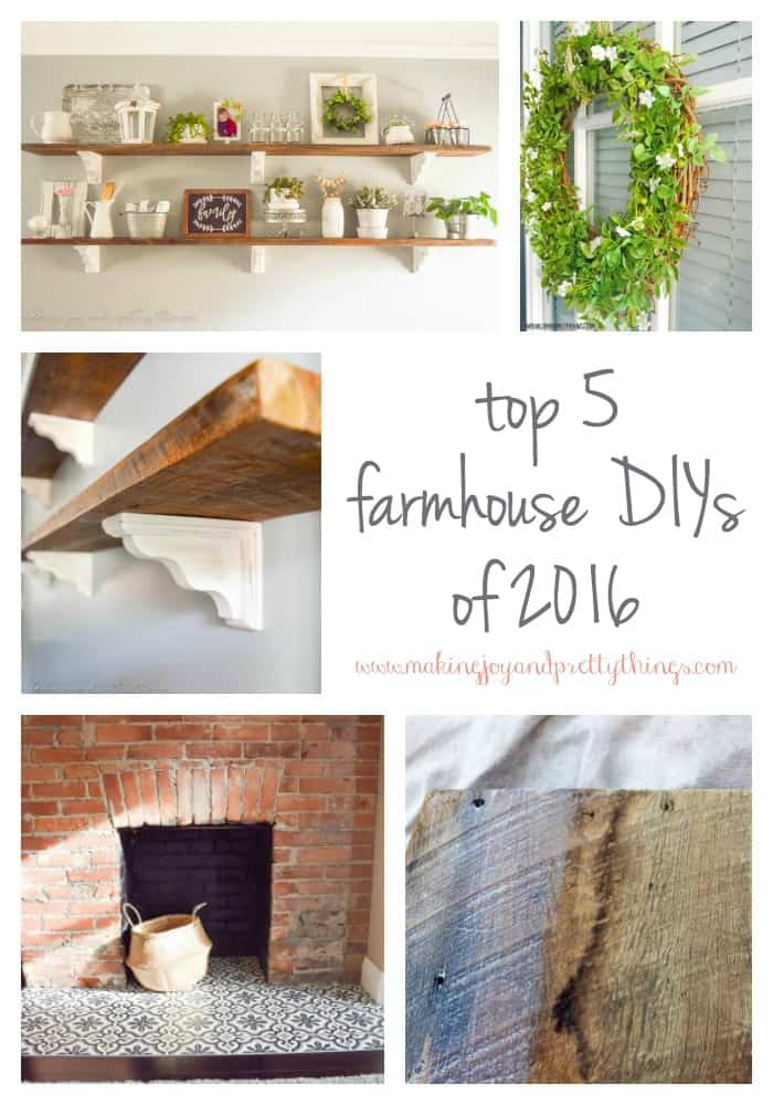 top 5 farmhouse style DIYs of 2016 | farmhouse DIY | farmhouse decor DIY | DIY farmhouse