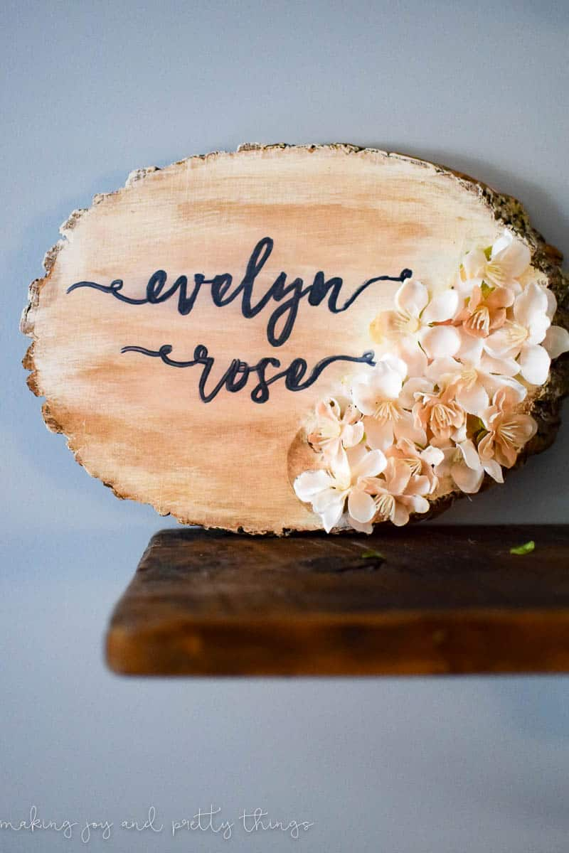 59 Incredibly Simple Rustic Décor Ideas That Can Make Your: Personalized Nursery Wood Slice Name Sign