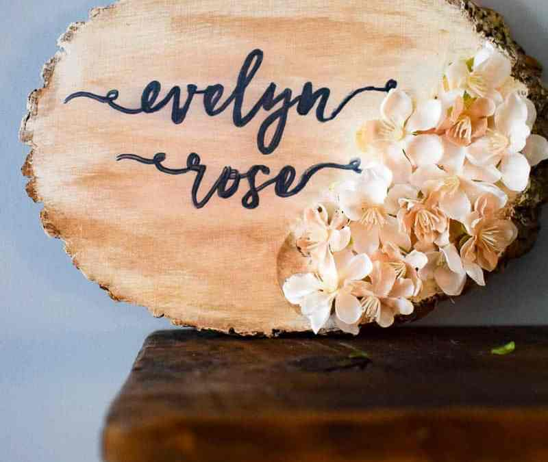 Personalized Nursery Wood Slice Name Sign