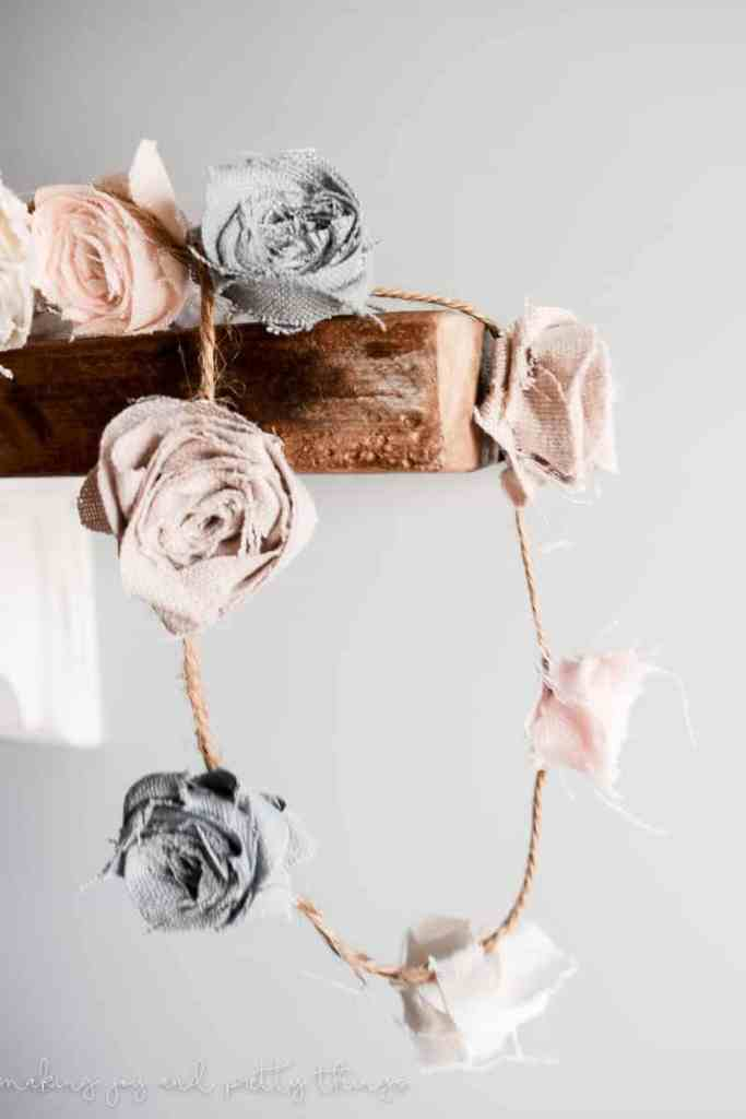 diy fabric floral garland | diy fabric flowers no sew | flower garland | diy fabric flowers