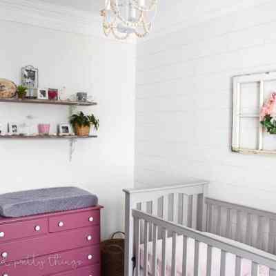 Farmhouse Girls Nursery Reveal