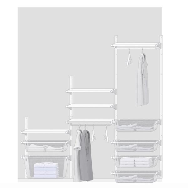 ikea algot closet | ikea closet | ikea closet ideas | ikea closet organization | algot closet | algot ikea | custom closet ideas |