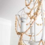 How to Make a Wood Bead Chandelier